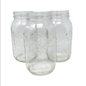 Ball Glass Mason Jars, 32oz, 3 Count
